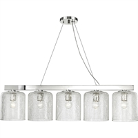 "Picture for category Island Lighting 5 Light Fixtures With Polished Nickel Finish Steel/Glass Material E26 Bulb 10"" 300 Watts"