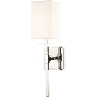 Picture for category World of Exclusive WEX308396 Wall Sconces Polished Nickel Steel / Shade Pherkad