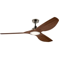 Picture for category Kichler Lighting 300365PN Indoor Ceiling Fans Polished Nickel Steel Imari