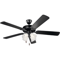 Picture for category Kichler Lighting 402SBK Indoor Ceiling Fans Satin Black Steel Basics