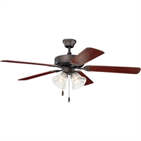 Picture for category Kichler Lighting 402SNBS Indoor Ceiling Fans Satin Natural Bronze Steel Basics