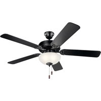Picture for category Kichler Lighting 403SBK Indoor Ceiling Fans Satin Black Steel Basics