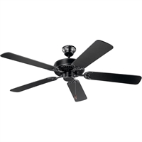 Picture for category Kichler Lighting 404SBK Indoor Ceiling Fans Satin Black Steel Basics