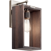 Picture for category Kichler Lighting 44218CLP Wall Sconces Classic Pewter Wood Industrial Frames