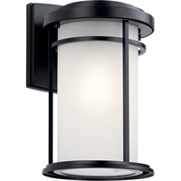 "Picture for category Wall Sconces 1 Light Fixtures With Black Finish Aluminum Material Medium Bulb 8"" 100 Watts"
