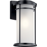 "Picture for category Wall Sconces 1 Light Fixtures With Black Finish Aluminum Material Medium Bulb 10"" 150 Watts"