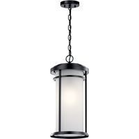 "Picture for category Outdoor Pendant 1 Light Fixtures With Black Finish Aluminum Material Medium Bulb 10"" 150 Watts"