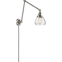 Picture for category World of Lifestyle WLS354471 Wall Sconces Brushed Satin Nickel Cast Brass, Glass Ain