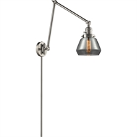 Picture for category World of Lifestyle WLS354473 Wall Sconces Brushed Satin Nickel Cast Brass, Glass Ain