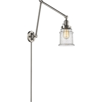 Picture for category World of Lifestyle WLS354477 Wall Sconces Brushed Satin Nickel Cast Brass, Glass Mira