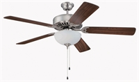 Picture for category Craftmade K11102 Indoor Ceiling Fans Brushed Polished Nickel  Pro Builder 201