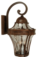 "Picture for category Aged Bronze Textured Wall Sconces 7"" Wide Clear Hammered Glass Medium 1 Light Fixture"