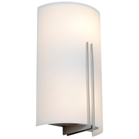 Picture for category Access Lighting 20446LEDSWAD-BS/WHT Wall Sconces Brushed Steel Steel Prong