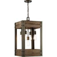 Picture for category Nuvo Lighting 60/6426 Pendants Bronze and Aged Wood Steel Winchester