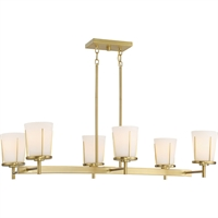 Picture for category Nuvo Lighting 60/6538 Island Lighting Natural Brass Steel Serene