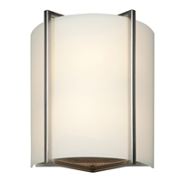 "Picture for category Wall Sconces 1 Light Fixtures With Brushed Steel Finish Metal Material Smart 9"" 22.5 Watts"
