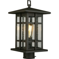 Picture for category Eglo Lighting 202889A Outdoor Post Light Matte Bronze Steel Arlington Creek