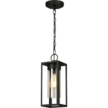 Picture of Eglo Lighting 203664A Outdoor Pendant Matte Black Steel Walker Hill