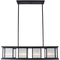 Picture for category Eglo Lighting 203726A Island Lighting Black and Brushed Nickel Steel/Glass Henessy