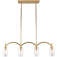 Picture for category Eglo Lighting 203744A Island Lighting Antique Gold Steel/Glass Deora