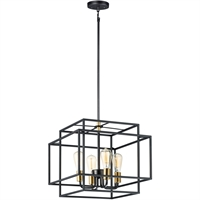 Picture for category Maxim Lighting 10247BKSBR Pendants Black and Satin Brass Steel Liner