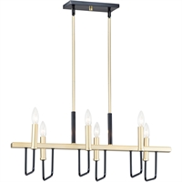 Picture for category Maxim Lighting 10259BKGLD Island Lighting Black and Gold Steel Sullian