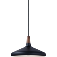 Picture for category Maxim Lighting 11354WNBK Pendants Walnut and Black Aluminum Nordic