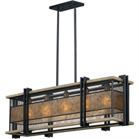 Picture for category Maxim Lighting 27567BKBWAB Island Lighting Black and Barn Wood and Antique Brass Steel and Wood and Mica Boundry