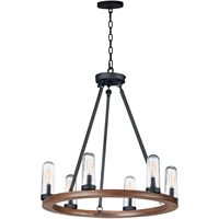 Picture for category Maxim Lighting 30016CDAPBK Outdoor Pendant Antique Pecan and Black Steel and Glass Lido