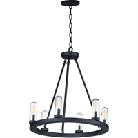 Picture for category Maxim Lighting 30016CDBK Outdoor Pendant Black Steel and Glass Lido