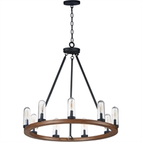 Picture for category Maxim Lighting 30019CDAPBK Outdoor Pendant Antique Pecan and Black Steel and Glass Lido