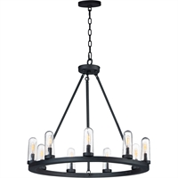 Picture for category Maxim Lighting 30019CDBK Outdoor Pendant Black Steel and Glass Lido