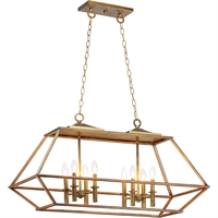 Picture for category Maxim Lighting 39547HZBRG Island Lighting Hazel and Burnished Gold Steel Woodland