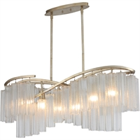 Picture for category Maxim Lighting 39579WFLGS Island Lighting Golden Siler Steel and Glass Victoria