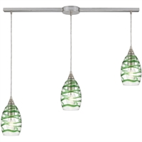 Picture for category Elk Lighting 31762/3L Island Lighting Satin Nickel Glass/Steel Vines
