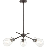 Picture for category Elk Lighting 31937/3 Chandeliers Oil Rubbed Bronze Glass/Steel Jaelyn