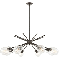 Picture for category Elk Lighting 31939/8 Chandeliers Oil Rubbed Bronze Glass/Steel Jaelyn