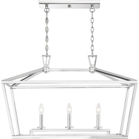 "Picture for category Island Lighting 3 Light Fixture with Polished Nickel Finish Metal Material C Bulb 16"" 180 Watts"