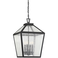 Picture for category RLA Savoy RL-384078 Outdoor Pendant Black Metal/Glass Woodstock