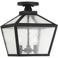 "Picture for category Outdoor Wall Sconces 3 Light Fixture with Black Finish Metal/Glass Material C Bulb 12"" 180 Watts"