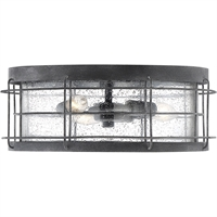 "Picture for category Outdoor Wall Sconces 3 Light Fixture with Oxidized Black Finish Metal/Glass Material C Bulb 14"" 180 Watts"