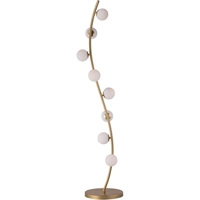 "Picture for category Floor Lamps 8 Light Fixtures With Metallic Gold Finish Steel and Aluminum and Glass Material LED 10"" 24 Watts"