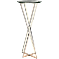 Picture for category RLA ET2 RL-388131 Tables Polished Chrome Stainless Steel and Glass York