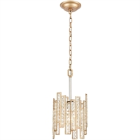 "Picture for category Pendants 1 Light Fixture with Matte Gold with Polished Nickel Finish Glass/Steel Material E26 11"" 100 Watts"
