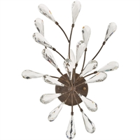 "Picture for category Bathroom Vanity 1 Light Fixture with Sunglow Bronze Finish Glass/Steel Material E12 14"" 60 Watts"
