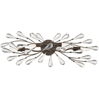 "Picture for category Bathroom Vanity 4 Light Fixture with Sunglow Bronze Finish Glass/Steel Material E12 28"" 240 Watts"