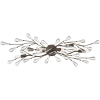 "Picture for category Bathroom Vanity 6 Light Fixture with Sunglow Bronze Finish Glass/Steel Material E12 39"" 360 Watts"