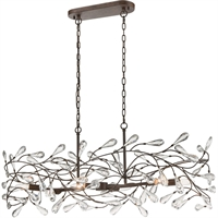 "Picture for category Island Lighting 6 Light Fixture with Sunglow Bronze Finish Glass/Steel Material E12 43"" 360 Watts"