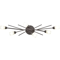 "Picture for category Bathroom Vanity 6 Light Fixture with Oil Rubbed Bronze Finish Glass/Steel Material G9 31"" 240 Watts"