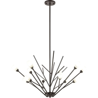 "Picture for category Chandeliers 12 Light Fixture with Oil Rubbed Bronze Finish Glass/Steel Material G9 20"" 480 Watts"